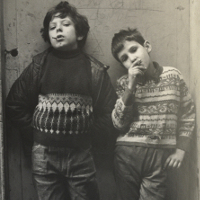 Two Young Boys Smoking