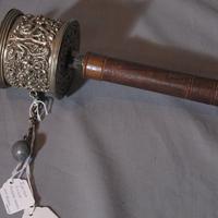 Tibetan Silver Prayer Wheel