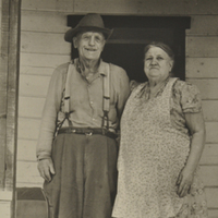Carl Jacob and Sarah Hilda Nath on Porch
