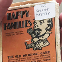 Jaques Happy Families Card Game